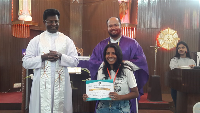 Winners of the Sunday School Article writing, Drawing and Comic strip competitions